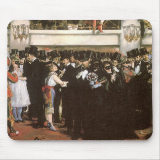Vintage Art, Masked Ball at the Opera by Manet Mouse Mat