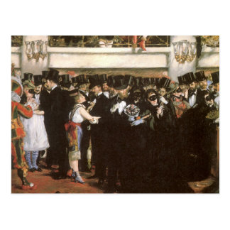 Vintage Art, Masked Ball at the Opera by Manet Postcard