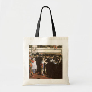 Vintage Art, Masked Ball at the Opera by Manet Budget Tote Bag