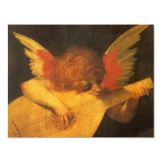 Vintage Art, Musician Angel by Rosso Fiorentino Card