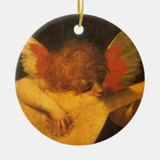 Vintage Art, Musician Angel by Rosso Fiorentino Christmas Ornament