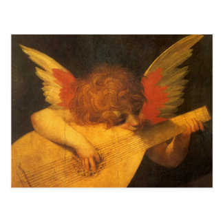 Vintage Art, Musician Angel by Rosso Fiorentino Postcard