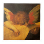 Vintage Art, Musician Angel by Rosso Fiorentino Small Square Tile