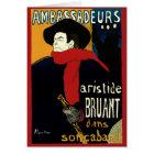 Vintage Art Nouveau Ambassadeurs, Toulouse Lautrec Card