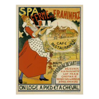 Vintage Art Nouveau, Beer Bar Cafe and Restaurant Poster