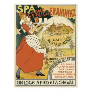 Vintage Art Nouveau, Beer Bar Restaurant and Cafe Postcard