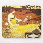 Vintage Art Nouveau Bicycle Ad Mouse Pads