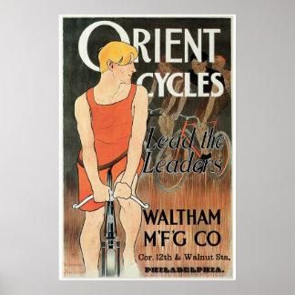 Vintage art nouveau bicycle ad print