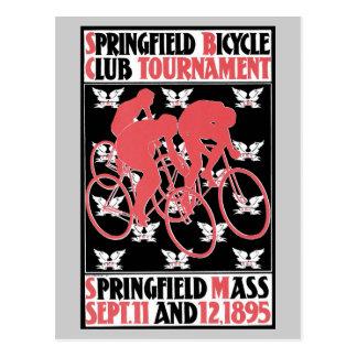 Vintage art Nouveau bicycle club Postcard