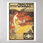 Vintage art nouveau Bicycles ad