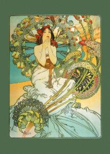 Vintage Art Nouveau Birthday Card
