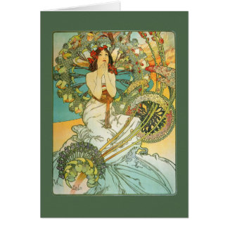 Vintage Art Nouveau Birthday Card