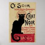 Vintage art nouveau black cat