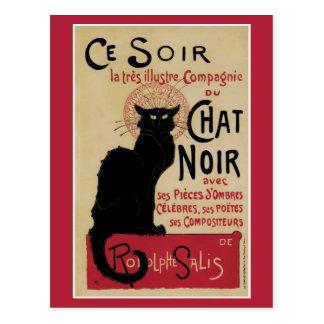 Vintage art nouveau black cat postcards