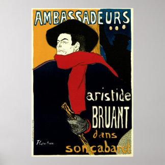 Vintage Art Nouveau by Henri de Toulouse Lautrec Poster