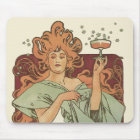 Vintage Art Nouveau by Mucha, Champagne Party Mouse Mat