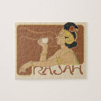 Vintage Art Nouveau Cafe Rajah, Lady Drinking Tea Puzzles