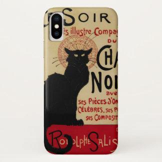 Vintage Art Nouveau, Ce Soir Chat Noir Black Cat iPhone X Case