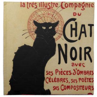Vintage Art Nouveau, Ce Soir Chat Noir Black Cat Napkin