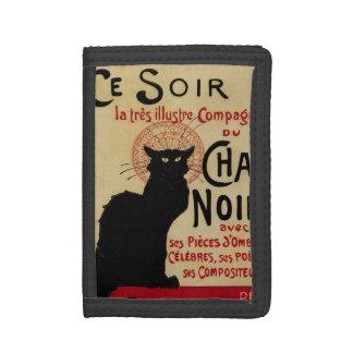 Vintage Art Nouveau, Ce Soir Chat Noir Black Cat Tri-fold Wallet