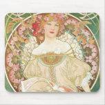 Vintage Art Nouveau; Champenois; Alphonse Mucha Mousepads