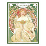 Vintage Art Nouveau, Champenois by Alphonse Mucha Personalized Invite