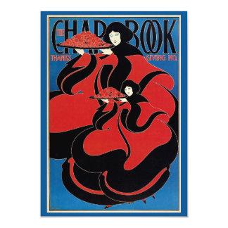 Vintage Art Nouveau Chap Book Thanksgiving 13 Cm X 18 Cm Invitation Card