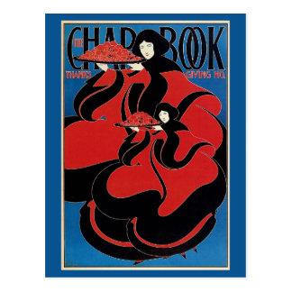 Vintage Art Nouveau Chap Book Thanksgiving Postcard