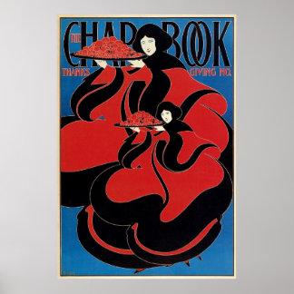 Vintage Art Nouveau Chap Book Thanksgiving Poster