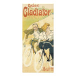 Vintage Art Nouveau Couple Bicycle Gladiator Cycle Personalised Rack Card