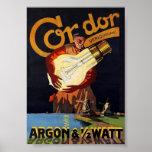 Vintage Art Nouveau Dutch Electric Light Bulb Print