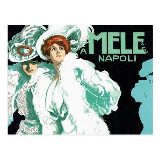 Vintage Art Nouveau, Fancy Women and Italy Fashion Postcard