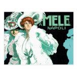 Vintage Art Nouveau; Fancy Women with Fur and Hats Postcards