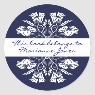 Vintage Art Nouveau Floral Book Plate Stickers