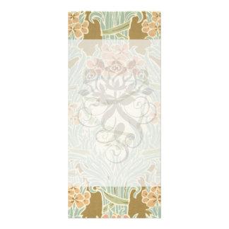 vintage art nouveau flower bunches rack card