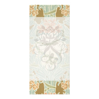 vintage art nouveau flower bunches customised rack card