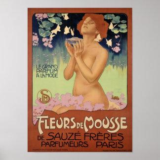 Vintage Art-Nouveau France Paris Perfume Ad Poster Print