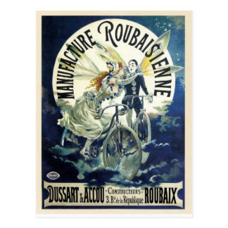 Vintage art nouveau French bicycle ad Post Card