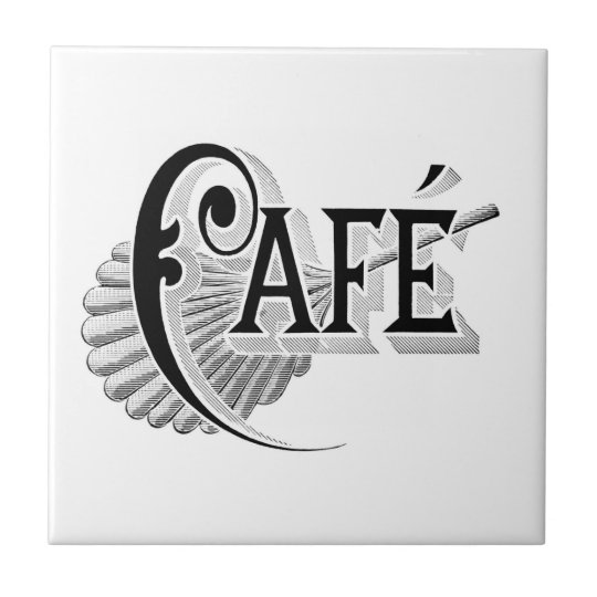 Vintage Art Nouveau French Chic Cafe Coffee Tile