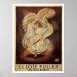 Vintage art nouveau French dance ad