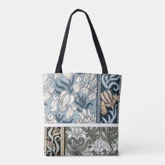 Vintage Art Nouveau, Garden Iris Flowers Tote Bag