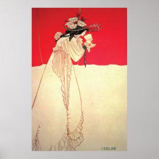 Vintage Art Nouveau ~ Isolde by Beardsley Poster