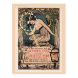 Vintage art nouveau Italian gas lighting ad Post Cards