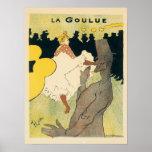 Vintage Art Nouveau, La Goulue by Toulouse Lautrec Poster