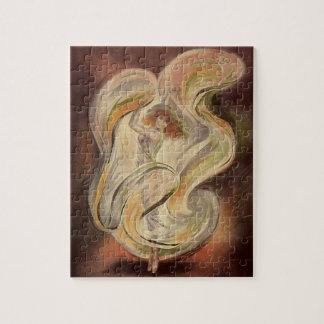 Vintage Art Nouveau, La Loie Fuller Modern Dancer Jigsaw Puzzle