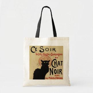 Vintage Art Nouveau Le Chat Noir Canvas Bags