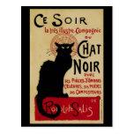 Vintage Art Nouveau, Le Chat Noir Post Card