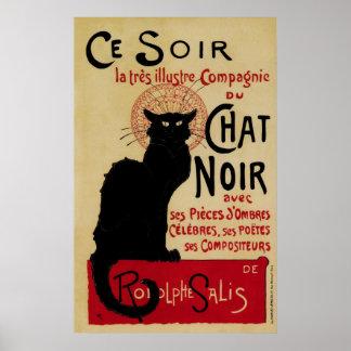 Vintage Art Nouveau Le Chat Noir Poster
