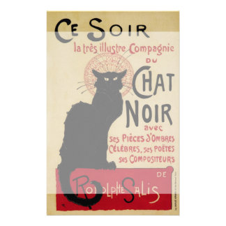 Vintage Art Nouveau Le Chat Noir Stationery Design