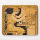 Vintage Art Nouveau, Love Conquers All Scientist Mouse Mat